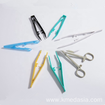 Disposable different types of colorful Clamp plastic forceps